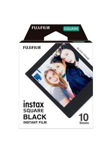 Fujifilm Instax Square Black Edition 10'lu Kare Film Siyah